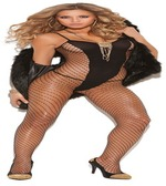 Back Diamond Net Body Stocking